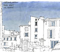 829 отметок «Нравится», 7 комментариев — Gérard Michel (@gerardmichelgerard) в Instagram: «Commencer un dessin par la forme du ciel. #clermontdessine #sketch #sketchbook #usk #ilfautallervoir»