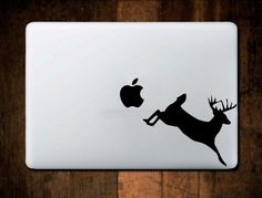 Running Deer Decal #2_29 MacBook Decal,Vinyl,Car Decal, Window Decal, ipad decal, laptop decal, Deer Hunter Decal, Hunting Decal by NebraskaVinyl on Etsy