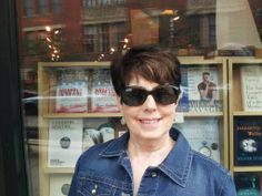 The first time I saw Wrapped in the Flag in a store window was in Chicago July 2, 2013 at Unabridged Books. I was one happy woman that day.