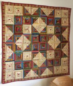 Log cabins 452682200032569288 - Cinnamon Spice runner Log Cabin Spools Quilt Autumn Greens Butterflies Picnic Baskets Ci… Source by Star Quilt Blocks, Star Quilt Patterns, Strip Quilts, Scrappy Quilts, Log Cabin Quilt Pattern, Log Cabin Quilts, Log Cabins, Rustic Cabins, Quilting Projects