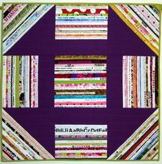 Monkey Wrench Selvage Quilt by Karen Griska