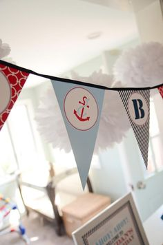 Nautical Sailor Boat Boy 1st Birthday Party Planning Ideas