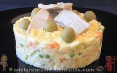 Receta saludable de ENSALADA RUSA O ENSALADILLA RUSA casera normal y con atún y/o huevo baja en colesterol, apta para diabéticos. También puedes hacerla vegana con lactonesa vegetal. COCINA FÁCIL Y SANA. Incluye VIDEO.