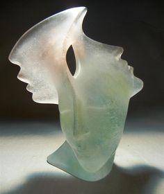 Daum Modernist Pate De Verre Sculpture