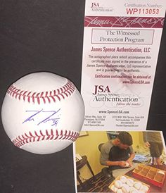 Kevin Kiermaier Autographed Signed Official Major League Baseball JSA WITNESS COA * Find out more about the great product at the image link. (Note:Amazon affiliate link)