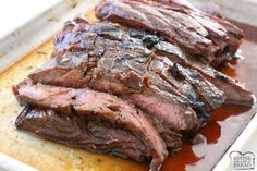 Insanely delicious Steak marinade recipe that's a family favorite. Comes together in minutes and you won't believe the incredible flavor!