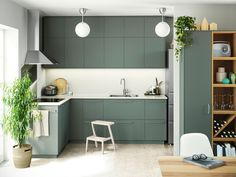 Kitchen remodeling is one of the most desirable home improvement projects for many homeowners. A new kitchen increases the value of your home and makes your life easier. The first step to your new … Ikea Kitchen Design, Interior Design Kitchen, Kitchen Decor, Kitchen Ideas, Kitchen Trends, Green Kitchen, New Kitchen, Duck Egg Blue Kitchen Cabinets, Kitchen Island