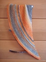This pattern is a recipe to make a crescent shawl. It can use any weight of yarn… and can be as dense or full of drape as you'd like.