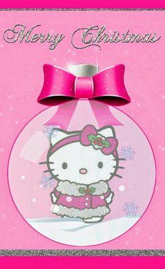 Pink Hello Kitty, Hello Kitty Items, Sanrio Hello Kitty, Hello Kitty Christmas, Pink Christmas, Christmas Greetings, Merry Christmas, Christmas Themes, Christmas Crafts