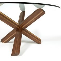 THINK DINING TABLE  Materials: Solid walnut or white oak Dimensions: 60 diameter x 29H  Options: Walnut or white oak