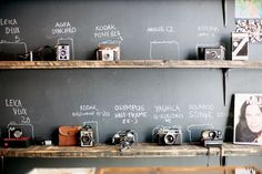 camera gear storage - love this idea