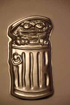 Vintage Wilton Cake Pan Oscar The Grouch 1977  .....................Please save this pin.   .............................. Because for vintage collectibles - Click on the following link!.. http://www.ebay.com/usr/prestige_online