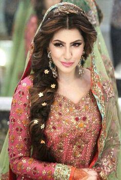 # pakistani # dulhan # hairstyle
