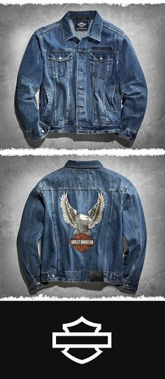 Some see just a jacket. The rest of us see freedom, heritage, loyalty. | Harley-Davidson Men's Denim Jacket with Eagle