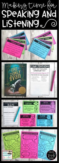 Check out our latest post on Upper Elementary Snapshots on making time for Speaking and Listening. Learn how to use conversation cards to engage students in discussions about literature and informative texts, while also meeting common core standards for s
