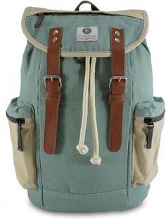 Ridgebake Mid Liam Rucksack Vintage Design Lederapplikationen hellblau style summer travel