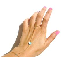 Evil eye slave bracelet