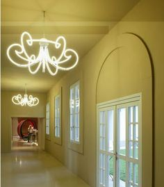 Neon light #chandalier