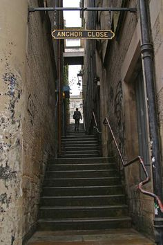 City alley stairs.
