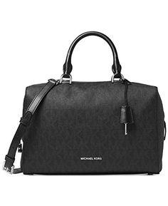 fc5fc87bc MICHAEL Michael Kors Womens Kirby Large Satchel Michael Kors Black, Handbags  Online, Bison,