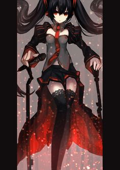 I have always thought Zatsune was Miku's EVIL sister, but after that i though she was actually BRS (black rock shooter)