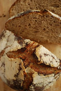 no knead bread with whole wheat. by chickpeastudio, via Flickr (using sourdough starter)