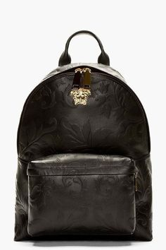 Versace for Men Collection Versace Backpack, Versace Bag, Backpack Purse, Leather Backpack, My Bags, Purses And Bags, Fashion Bags, Fashion Backpack, Moda Masculina