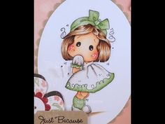 Tilda with Ribbon Shoes Copic Coloring Card Kit - YouTube