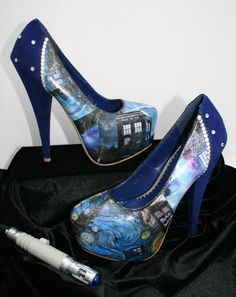 Doctor Who Heels Doctor Who Shoes Tardis Heels by LeadFootLucy, $125.00