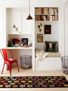 Trendy Home Office Desk For 2 Small Spaces Reading Nook Closet, Closet Nook, Corner Closet, Closet Bedroom, Bedroom Decor, Master Closet, Bedroom Apartment, Closet Bench, Bedroom Office