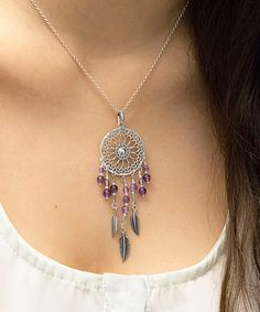 Take a look at this Sterling Silver & Amethyst Dream Catcher Pendant Necklace today!