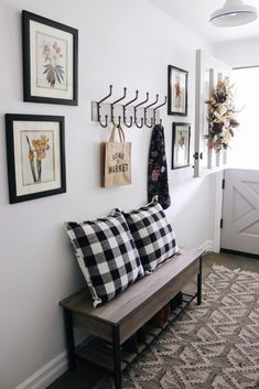 Fall Entry Makeover - The Inspired Room Hallway Art, Ways To Wake Up, Hygge Home, Home Scents, Best Kitchen Designs, Home Decor Inspiration, Home Projects, Decor Styles, Light Fixtures