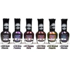 NEW KLEANCOLOR 3D DUOCHROME NAIL POLISH LOT OF 6 LACQUER THE CHROMATIC ERA KNP17 + FREE EARRING by Kleancolor