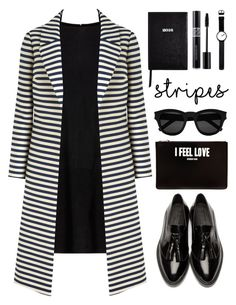 I feel love by deeyanago on Polyvore featuring MuuBaa, Burberry, Givenchy, Rosendahl, Yves Saint Laurent, Christian Dior, Sloane Stationery and stripes