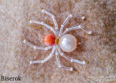 Spider of beads and beads Cool Patterns, Beading Patterns, Wire Jewelry, Jewelery, Beaded Spiders, Necklace Tutorial, Bead Crafts, Pearl Earrings, Miniatures
