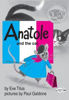 Anatole is the happiest, most contented mouse in all of Paris. He is Vice-President in charge of Cheese Tasting at Duvall's cheese factory. He works in secret at night–the people at Duvall have no idea their mysterious taster is really a mouse! So M'sieu Duvall thinks nothing of bringing his pet cat to the factory…Clever Anatole must act to protect his job, and his life! He must do what no mouse has done before–find a way to bell the cat. Bonne chance, Anatole!
