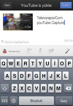 Mobil> YouTube da HD kalitede ve WİFİ ile hemen paylaş