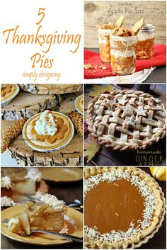 5 Thanksgiving-Worthy Pies | #thanksgiving #pie #applepie #pumpkinpie Fall Recipes, Holiday Recipes, Holiday Desserts, All You Need Is, Pie Dessert, Dessert Recipes, Thanksgiving Pies, Sweet Tooth, Favorite Recipes