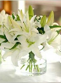 Casablanca lilies centerpiece