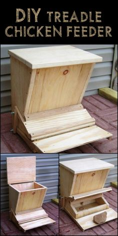 Minimize Chicken Feed Waste by Building a Treadle Chicken Feeder! Chicken Coop Pallets, Cheap Chicken Coops, Small Chicken Coops, Chicken Coop Signs, Portable Chicken Coop, Building A Chicken Coop, Pet Chickens, Raising Chickens, Quail House