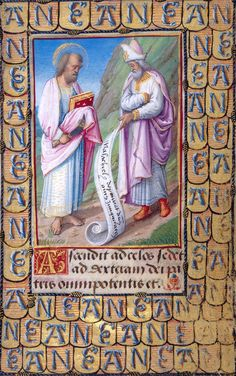 The Apostle Bartholomew and the Prophet Malachi | Prayer Book of Anne de Bretagne | Illuminated by Jean Poyer | ca. 1492–95 | The Morgan Library & Museum