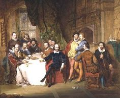 Shakespeare and his Friends, by John Faed