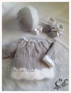 Correo: Sedalina Rodriguez Alvarez - Out - DIY & Crafts Knitting For Kids, Baby Knitting Patterns, Crochet For Kids, Baby Patterns, Crochet Baby Jacket, Crochet Baby Hats, Knit Crochet, Knit Baby Sweaters, Baby Shoes