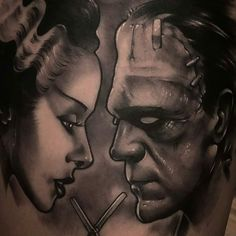 In Progress Frankenstein tattoo by @kyleascarborough at The Washington Tattoo Collective in Washington MO #kyleascarborough #thewashingtontattoocollective #washington #missouri #frankenstein #frankensteintattoo #brideoffrankenstein #brideoffrankensteintattoo #wip #workinprogress #inprogress #tattoo #tattoos #tattoosnob