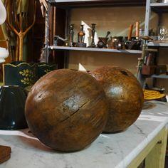 wooden bowling balls