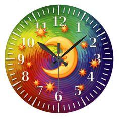 Happy dreaming moon Decorative Clock
