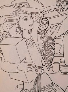 1990 Barbie A Trip To Santa Fe Coloring Book