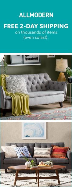 Sofas - Sign up now for FREE SHIPPING on orders over $49 at allmodern.com!