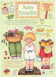 Mary Engelbreit's Ann Estelle paper doll
