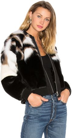 NBD x REVOLVE Bonita Faux Fur Bomber | #Chic Only #Glamour Always